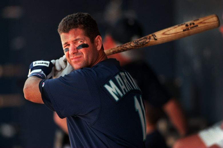 In 18 seasons with the Mariners, Edgar Martinez posted a .312 batting average with a .418 on-base percentage. (Mark Harrison/The Seattle Times)