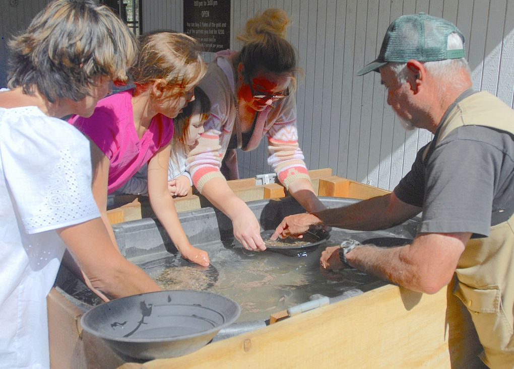 Before heading for the riverbank, visitors can get tips on gold-panning techniques at Sumpter Valley Dredge State Heritage Area, near Baker City, Ore. (Picasa)