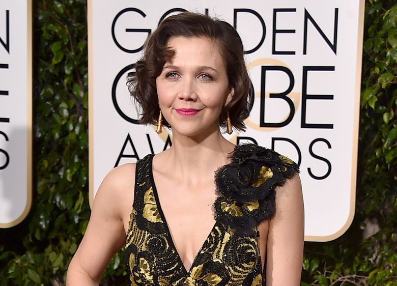 """FILE – In this Jan. 10, 2016 file photo, actress Maggie Gyllenhaal arrives at the 73rd annual Golden Globe Awards in Beverly Hills, Calif. Gyllenhaal will read the classic Leo Tolstoy novel, """"Anna Karenina,"""" for an audiobook. Tolstoy's masterpiece is over 1,000 pages. (Photo by Jordan Strauss/Invision/AP, File)"""