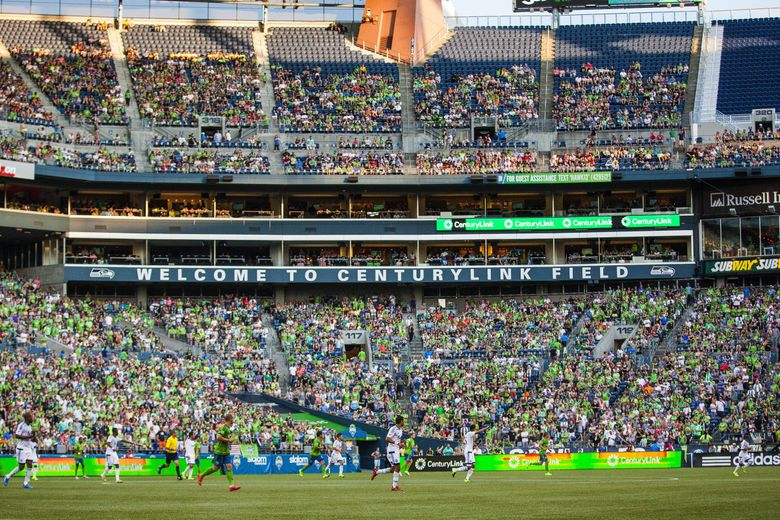 The Sounders opened the upper deck of CenturyLink Field for Saturday's game with Vancouver, drawing 53,125.  The Vancouver Whitecaps played the Seattle Sounders Saturday, Aug. 1, 2015, at CenturyLink Field in Seattle.  (Dean Rutz / The Seattle Times)