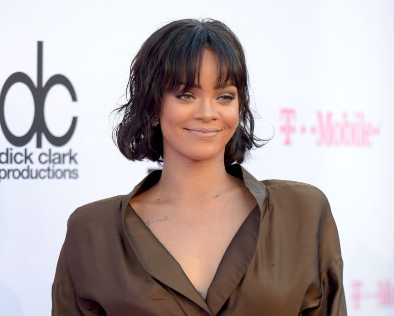 FILE – In this May 22, 2016 file photo, Rihanna arrives at the Billboard Music Awards in Las Vegas. MTV announced Thursday, Aug. 11, 2016, that Rihanna, who released her first album in 2005, will earn the Michael Jackson video vanguard award at the Aug. 28 show in New York. (Photo by Richard Shotwell/Invision/AP, File)