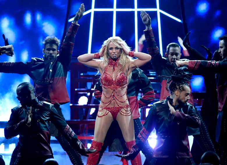 """FILE – In this May 22, 2016, file photo, Britney Spears performs at the Billboard Music Awards at the T-Mobile Arena in Las Vegas. For years now  Spears has moved like a robot, but if there's any hope that she could return to pop-star status, her new album """"Glory"""" is her best bet. (Photo by Chris Pizzello/Invision/AP, File)"""