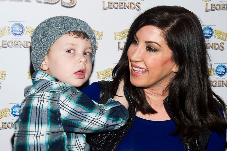 FILE – In this Feb. 20, 2014, file photo, Jacqueline Laurita and her son Nicholas attend the Ringling Bros. and Barnum & Bailey Present Legends circus in New York. Laurita's daughter, Ashlee Holmes gave birth to her first child, a boy, on Tuesday, Aug. 30, 2016. (Photo by Charles Sykes/Invision/AP, File)