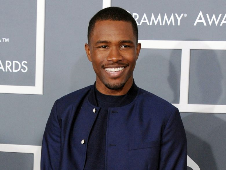 """FILE – In this Feb. 10, 2013 file photo, Frank Ocean arrives at the 55th annual Grammy Awards in Los Angeles. Apple Music has released new and long-awaited music from Grammy award-winning singer, Ocean. The company tweeted a link to the music video """"Endless"""" by the R&B artist on Thursday night, Aug. 18, 2016. (Photo by Jordan Strauss/Invision/AP, File)"""