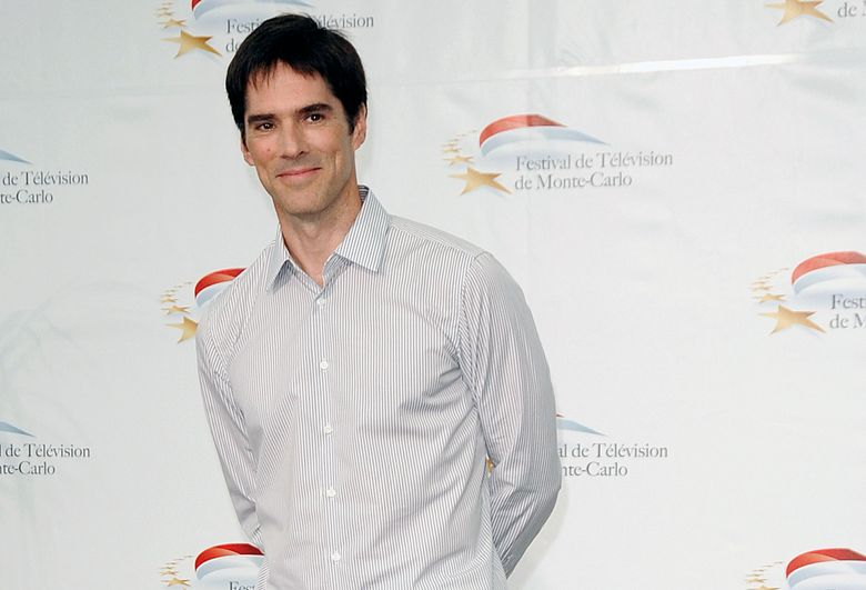 """FILE- In this June 8, 2011, file photo, actor Thomas Gibson attends the 51st Monaco Television Festival in Monte Carlo, Monaco. Gibson has been dismissed from the long-running CBS drama """"Criminal Minds."""" ABC Studios and CBS Television Studios, which produce the series, made the announcement Friday, Aug. 12, 2016, with no further details. (AP Photo/Christian Alminana, File)"""