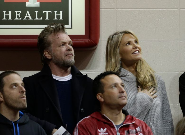 FILE – In this Jan. 23, 2016, file photo, John Mellencamp and Christie Brinkley attend an NCAA college basketball game between Indiana and Northwestern in Bloomington, Ind. A spokeswoman for both stars told The Associated Press on August 10, 2016, that they have ended their relationship after dating for about a year. (AP Photo/Darron Cummings, File)