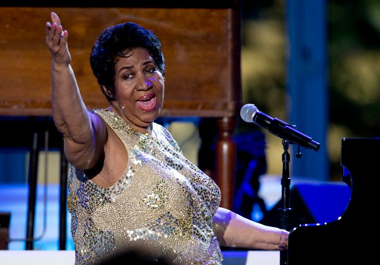 FILE – In this April 29, 2016 file photo, Aretha Franklin performs at the International Jazz Day Concert on the South Lawn of the White House of the Washington. Franklin said in a statement Monday, Aug. 22, that she will have to cancel a few upcoming concerts on doctors' orders. The Queen of Soul said she should be back on the road in November. (AP Photo/Carolyn Kaster, File)