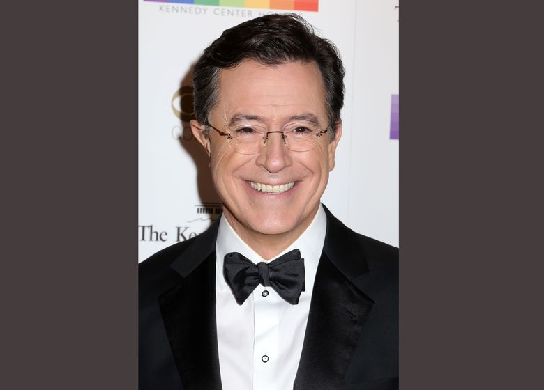 FILE – In this Dec. 6, 2015 file photo, Stephen Colbert attends the 38th Annual Kennedy Center Honors at The Kennedy Center Hall of States in Washington. Showtime is in talks with Stephen Colbert to host a live election-night comedy special, the channel's chief executive said. (Photo by Greg Allen/Invision/AP, File)
