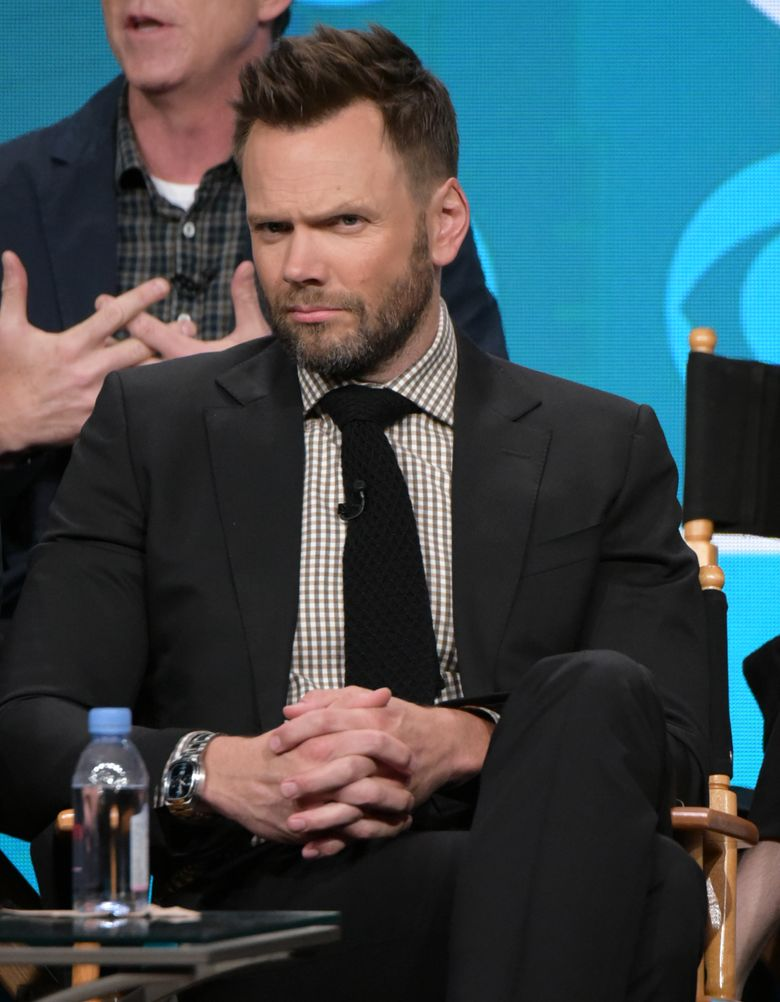 """Joel McHale participates in """"The Great Indoors"""" panel during the CBS Television Critics Association summer press tour on Wednesday, Aug. 10, 2016, in Beverly Hills, Calif. (Photo by Richard Shotwell/Invision/AP)"""