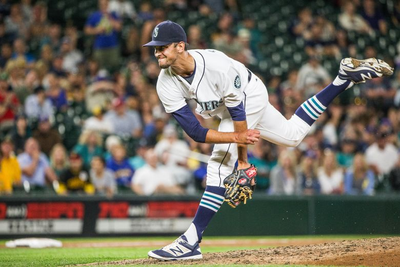 Steve Cishek gets the save for Seattle against Pittsburgh.  The Pittsburgh Pirates played the Seattle Mariners in the first game of a two-game interleague series Tuesday, June 28, 2016 at Safeco Field. (Dean Rutz / The Seattle Times)