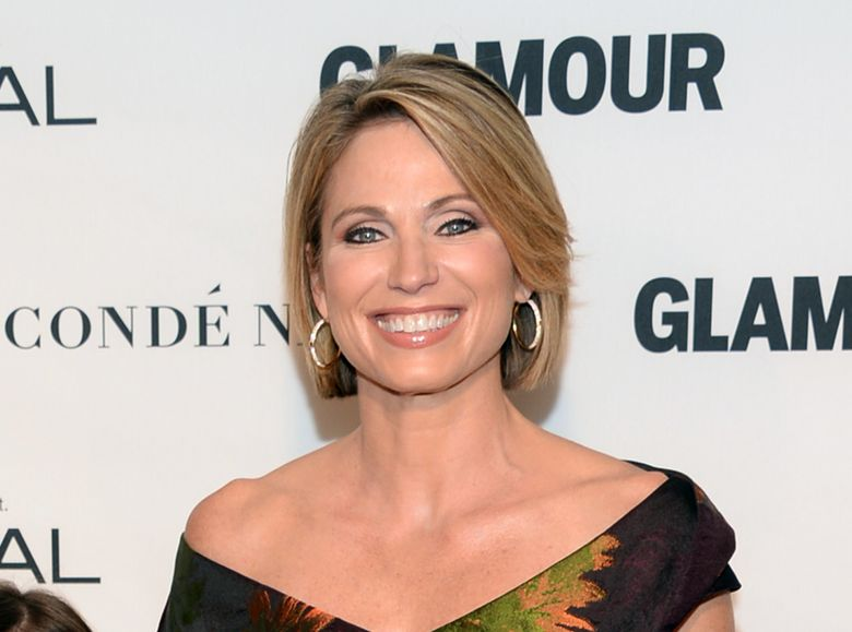 """FILE – In this Nov. 9, 2015 file photo, Amy Robach attends the 25th Annual Glamour Women of the Year Awards in New York.  Robach has apologized for using a term for African Americans on Monday's broadcast of the ABC program. After the broadcast, Robach released a statement explaining she had meant to say """"people of color."""" She called the incident """"a mistake"""" and """"not at all a reflection of how I feel or speak in my everyday life."""" (Photo by Evan Agostini/Invision/AP, File)"""