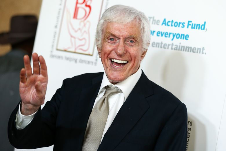"""FILE – In this April 24, 2016, file photo Dick Van Dyke attends the 29th Annual Gypsy Awards Luncheon held at the Beverly Hilton Hotel in Beverly Hills, Calif. A video posted on YouTube August 12, 2016, shows Van Dyke performing """"Chitty Chitty Bang Band"""" at a California Denny's. (Photo by John Salangsang/Invision/AP, File)"""