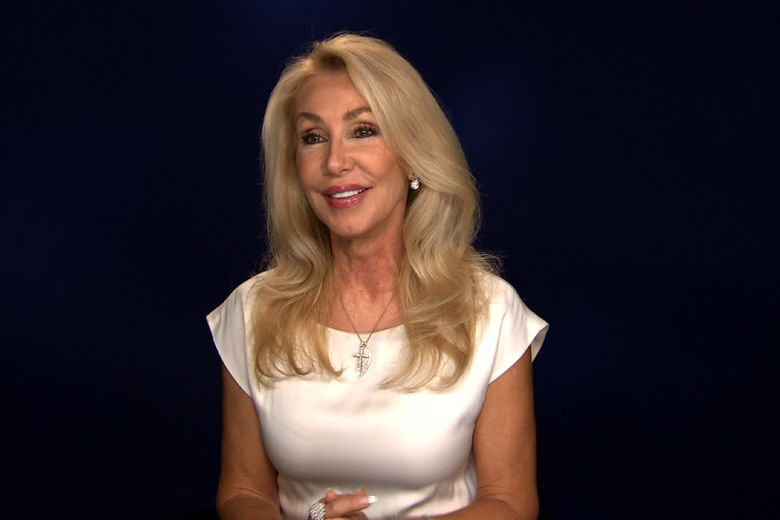 """This Aug. 23, 2016 photo taken from video shows Linda Thompson during an interview in New York. Thompson, who was engaged to Elvis Presley and married to Bruce Jenner and David Foster, has authored a book called, """"A Little Thing Called Life."""" (AP Photo/Bruce Barton)"""