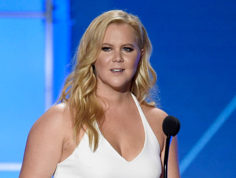 """FILE – In this Jan. 17, 2016 file photo, Amy Schumer accepts the Critics' Choice MVP award at the 21st annual Critics' Choice Awards in Santa Monica, Calif. Schumer will voice characters on """"The Simpsons,"""" """"Bob's Burgers"""" and """"Family Guy"""" on the episodes airing Sept. 25, Fox confirmed Monday at a bi-annual press event for TV critics. (Photo by Chris Pizzello/Invision/AP, File)"""