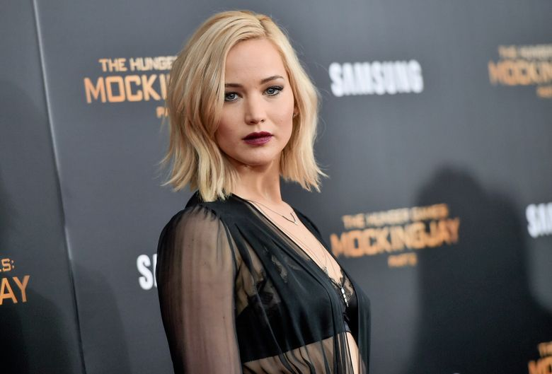 """FILE – In this Nov. 18, 2015, file photo, actress Jennifer Lawrence attends a special screening of """"The Hunger Games: Mockingjay Part 2"""" at the AMC Loews Lincoln Square in New York.  Lawrence topped Forbes magazine's list of the world's highest-paid actress, banking $46 million between June 1, 2015, and June 1, 2016, thanks to her paycheck for the final """"Hunger Games"""" installment. Lawrence out-earned second-ranked Melissa McCarthy with $33 million and Scarlett Johansson at No. 3 with $25 million.(Photo by Evan Agostini/Invision/AP, File)"""