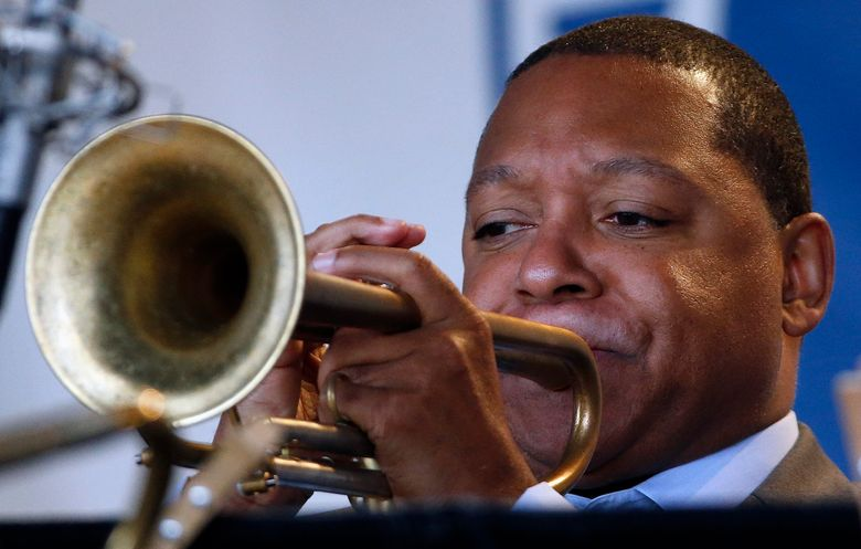 Wynton Marsalis brings his Jazz at Lincoln Center Orchestra to the Earshot Jazz Festival Oct. 13. (AP/Michael Dwyer)