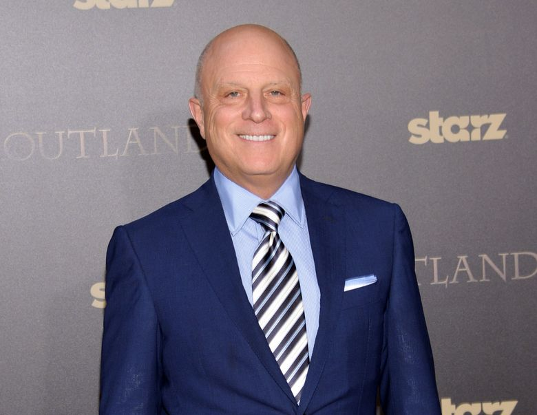 """FILE – In this April 1, 2015 file photo, Starz CEO Chris Albrecht attends the mid-season premiere of """"Outlander"""" in New York. Starz, which was won audiences and critical acclaim for such series as """"Outlander,"""" """"Power"""" and """"Ash vs. Evil Dead,"""" routinely gets the cold shoulder from the Television Academy. """"We couldn't be more proud of the work that is being done by the people on these shows,"""" said Albrecht. """"They are award-worthy. Whether it's an Emmy award or not is not the point."""" (Photo by Evan Agostini/Invision/AP, File)"""
