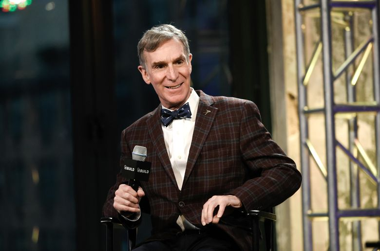 """FILE – In this Dec. 17, 2015 file photo, Bill Nye, the Science Guy, participates in AOL's BUILD Speaker Series to discuss his new book, """"Unstoppable: Harnessing Science To Change The World"""", at AOL Studios, in New York. Nye is going to be a Netflix guy. The streaming network announced plans Wednesday, Aug. 31, 2016, to launch a series, """"Bill Nye Saves the World,"""" hosted by the famed scientist, author and TV personality. (Photo by Evan Agostini/Invision/AP, File)"""