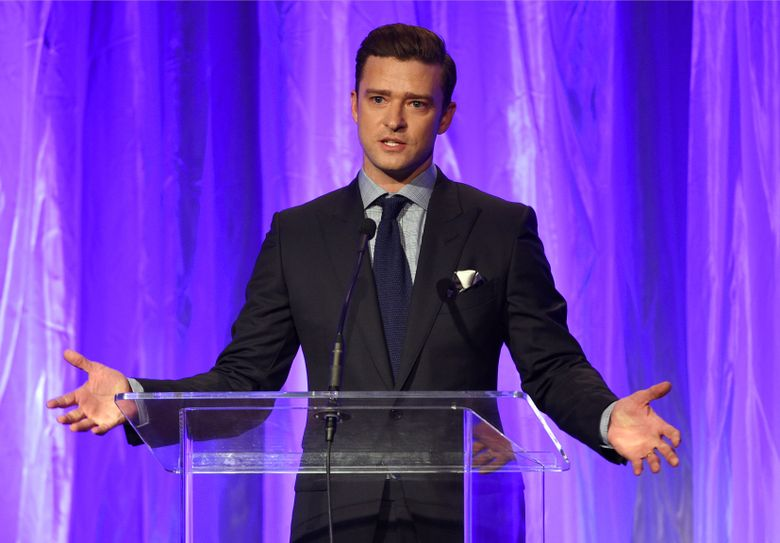 FILE – In this Aug. 4, 2016 file photo, Justin Timberlake speaks at the Hollywood Foreign Press Association Grants Banquet in Beverly Hills, Calif. Timberlake is a new partner and producer of the Pilgrimage Music & Cultural Festival. This year's lineup on Sept. 24 and 25 includes Beck, Daryl Hall and John Oates and Kacey Musgraves, but Timberlake will not be performing this year, according to the festival. (Photo by Chris Pizzello/Invision/AP, File)