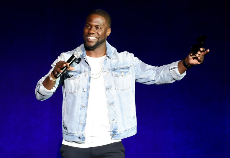 """FILE – In this April 13, 2016 file photo, Kevin Hart, star of the upcoming film """"What Now?,"""" addresses the audience during the Universal Pictures presentation at CinemaCon 2016 in Las Vegas. Hart has signed a deal with Motown Records to release an album under his rapper alter-ego, Chocolate Droppa, this fall. (Photo by Chris Pizzello/Invision/AP, File)"""