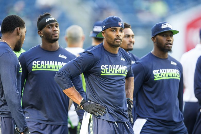Doug Baldwin and the receiving corp warm up for Thursday's preseason game with the Dallas Cowboys.  The Dallas Cowboys played the Seattle Seahawks in preseason football Thursday, August 25, 2016 at CenturyLink Field in Seattle.  (Dean Rutz / The Seattle Times)