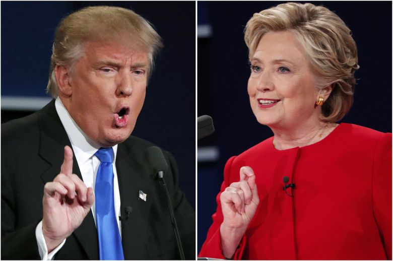 The presidential debate between Donald Trump  and Hillary Clinton broke a presidential debate record with about 84 million TV viewers. (Doug Mills / The New York Times)