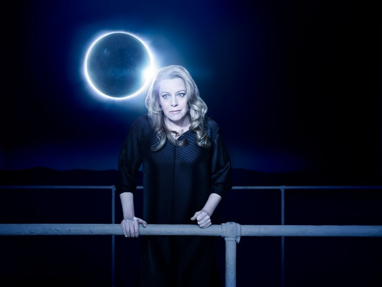 """This image released by the Metropolitan Opera shows Swedish soprano Nina Stemme as Isolde in Mariusz Trelinski's new production of Wagner's """"Tristan und Isolde"""" opening the Metropolitan Opera season on Sept. 25. (Kristian Schuller/Metropolitan Opera via AP)"""
