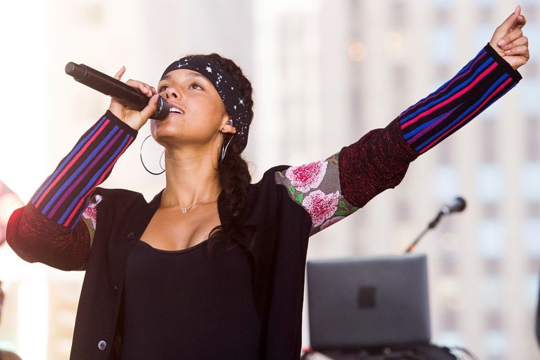"""FILE – In this Sept. 2, 2016 file photo, Alicia Keys performs on NBC's """"Today"""" show in New York. Keys wrote the song """"Back to Life"""" for the Disney film, """"Queen of Katwe"""" starring Lupita Nyong'O and David Oyelowo.  (Photo by Charles Sykes/Invision/AP, File)"""