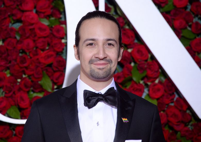 """FILE – In this June 12, 2016 file photo , Lin-Manuel Miranda arrives at the Tony Awards at the Beacon Theatre in New York.  NBC said Wednesday, Sept. 28  that Lin-Manuel Miranda will host """"SNL"""" on Oct. 8. Miranda created and starred in the Broadway sensation about the first U.S. treasury secretary. Twenty One Pilots duo Tyler Joseph and Josh Dun will be the show's musical guests. (Photo by Charles Sykes/Invision/AP)"""