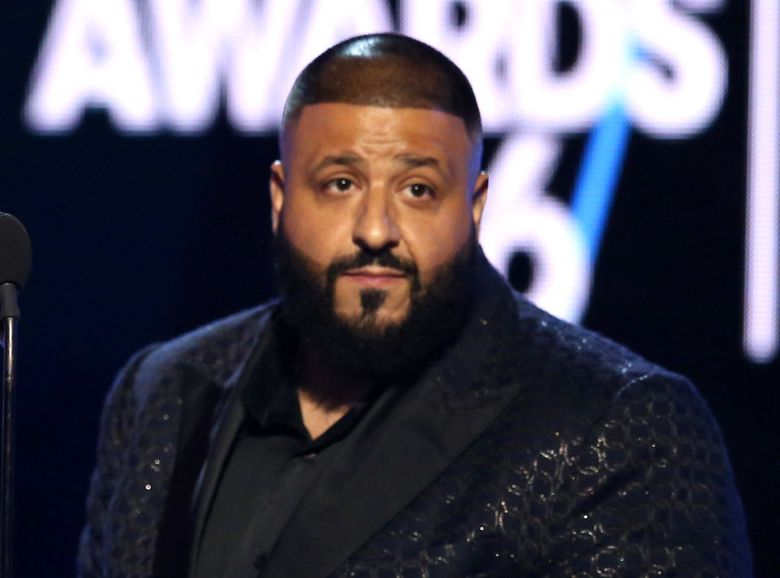 """FILE – In this June 26, 2016 file photo, DJ Khaled speaks at the BET Awards in Los Angeles.  The hip-hop producer and artist, radio personality and Snapchat favorite has a deal with Crown Archetype for """"The Keys,"""" to be published Nov. 22. (Photo by Matt Sayles/Invision/AP, File)"""