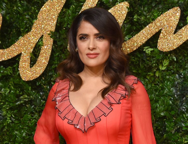FILE – In this Nov. 23, 2015 file photo, Salma Hayek poses for photographers at the British Fashion Awards 2015 in London. Hayek will join other celebrities, including Samuel L. Jackson, Kenneth Cole, Jason Collins, America Ferrera, Quincy Jones as co-chairs of a two-day Rise Up as One convention on Oct. 14-15 to celebrate diversity and unity. (Photo by Jonathan Short/Invision/AP, File)