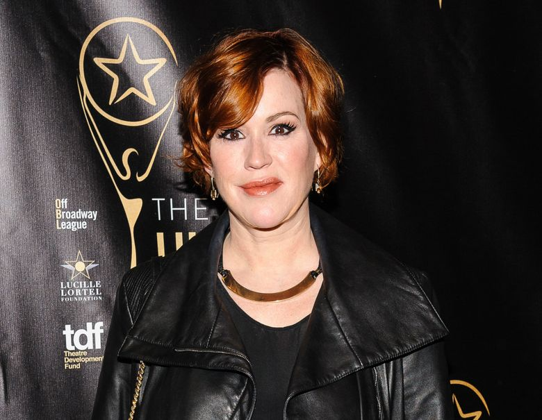 """FILE – In this May 1, 2016 file photo, Molly Ringwald attends The 2016 Lucille Lortel Awards for Outstanding Achievement Off-Broadway in New York. Ringwald will return to a New York stage in an adaptation of the 1980s film, """"Terms of Endearment."""" Performances begin Oct. 29. (Photo by Christopher Smith/Invision/AP, File)"""