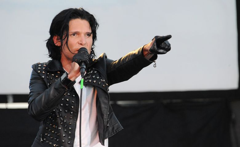 """FILE – In this May 25, 2013 file photo, Corey Feldman performs in Los Angeles. After being widely ridiculed for a music performance on Friday, Sept. 16, 2016, on the """"Today"""" show, Feldman is planning a return to the show. Pink, Kesha and Miley Cyrus are among Feldman's celebrity supporters. (Photo by Katy Winn/Invision/AP, File)"""