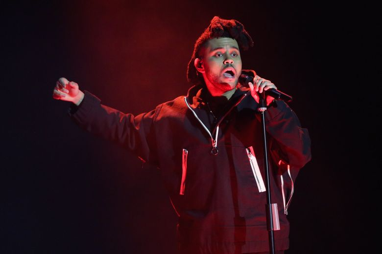 The Weeknd, pictured here  performing at the 2016 Echo Music Award ceremony in Berlin, will play KeyArena on April 26, 2017.  (AP Photo/Markus Schreiber, Pool, File)  (Markus Schreiber / AP)