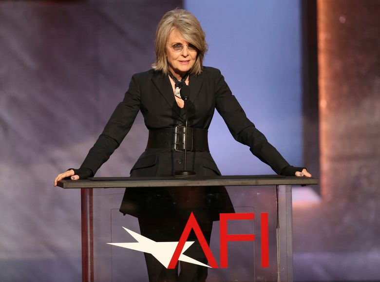 FILE – In this June 4, 2015 file photo, Diane Keaton speaks at the 43rd AFI Lifetime Achievement Award Tribute Gala honoring Steve Martin at the Dolby Theatre in Los Angeles. The institute said Thursday, Oct. 6, 2016, that Keaton will be honored with the American Film Institute's Life Achievement Award at a gala on June 8, 2017, that will be broadcast on TNT. (Photo by Paul A. Hebert/Invision/AP, File)