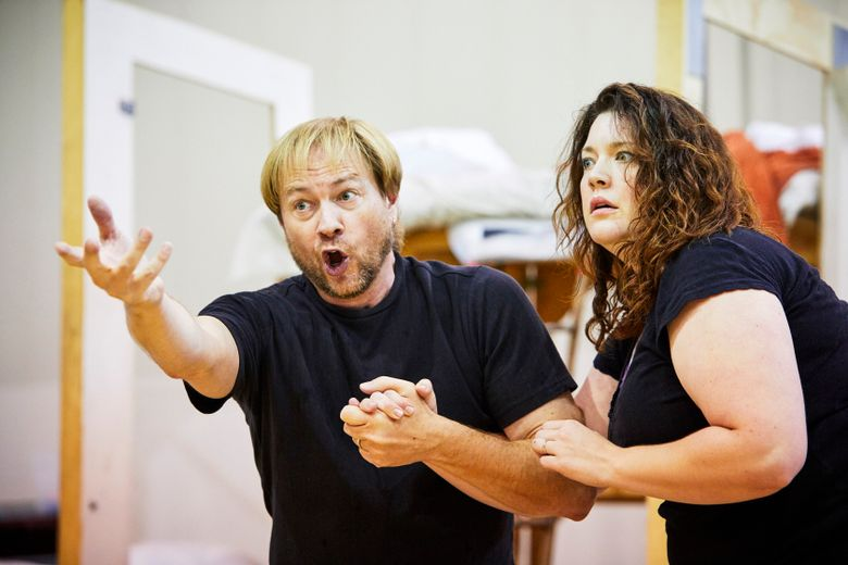 Marcy Stonikas and Mark Walters are the parents of Hansel and Gretel in the Seattle Opera production.
