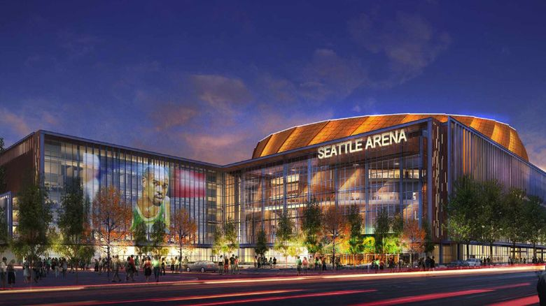 Rendering of what the Sodo arena might look like.