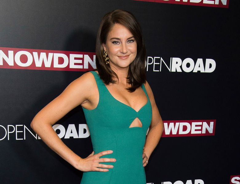 """FILE – In this Sept. 13, 2016 file photo, actress Shailene Woodley attends the premiere of """"Snowden"""" in New York. Woodley was arrested during a protest of the four-state Dakota Access pipeline in southern North Dakota. Morton County Sheriff's Department spokesman Rob Keller says the """"Divergent"""" star was arrested Monday, Oct. 10, for criminal trespass and engaging in a riot during a protest at a construction site that involved about 300 people. (Photo by Charles Sykes/Invision/AP, File)"""