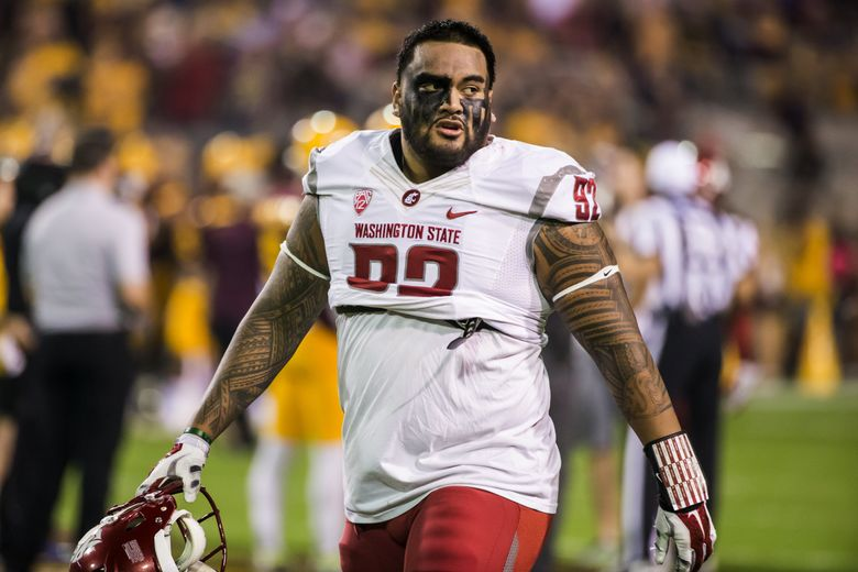 WSU football player Robert Barber was expelled after allegedly assaulting another student at a party last summer. He appealed and it was reduced to a suspension. (Bettina Hansen/The Seattle Times)