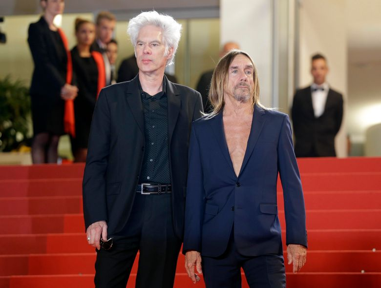 """FILE – In this May 20, 2016 file photo, director Jim Jarmusch, left and singer Iggy Pop, pose at the screening of the film """"Gimme Danger,"""" at the 69th international film festival, Cannes, southern France. The film premieres Friday, Oct. 28, 2016, in Detroit and New York. (AP Photo/Lionel Cironneau, File)"""