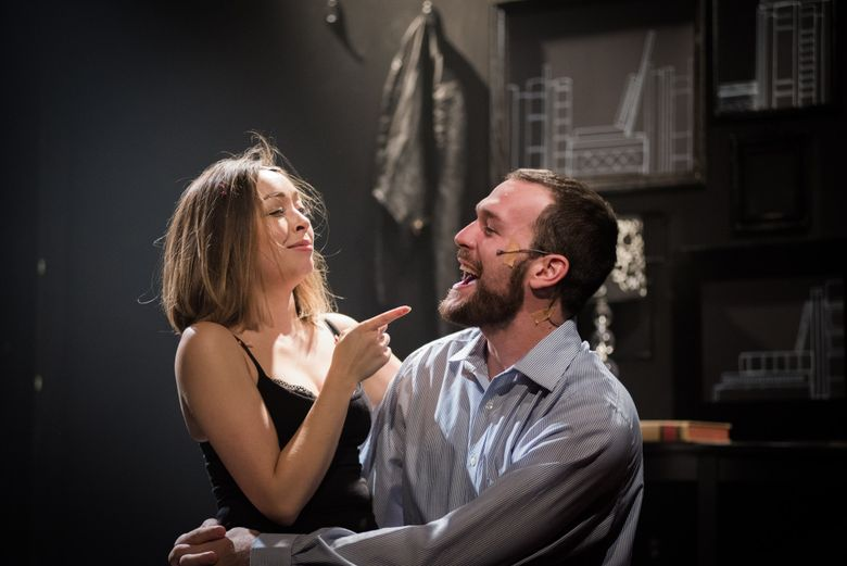 """Naomi Morgan and Nick Watson in Sidecountry Theatre's staging of """"Murder Ballad."""""""