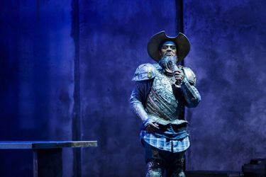 """Rufus Bonds Jr. as Don Quixote in """"Man of La Mancha"""" at 5th Avenue Theatre. (Mark Kitaoka photo) (Mark Kitaoka)"""