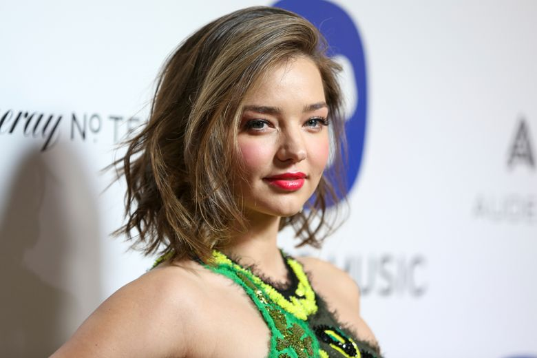 FILE – In this Feb. 15, 2016 file photo, Miranda Kerr arrives at the Warner Music Group Grammy Awards After Party at Milk Studios in Los Angeles.  Media reports say an intruder outside the mansion of  Kerr has been shot by a security guard, and Kerr wasn't home at the time. A Los Angeles Sheriff's Department spokesman said that an intruder at a Malibu residence Friday, Oct. 14, was shot three times after he stabbed a security guard late-morning Friday.  Sgt. Jeff Delrio said Saturday he could not immediately provide the home address or confirm that the property was Kerr's residence.(Photo by Rich Fury/Invision/AP)