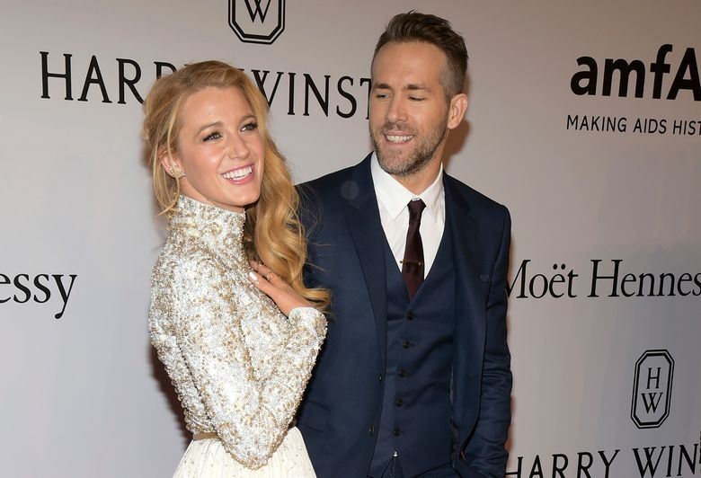 """FILE – In this Feb. 10, 2016, file photo, Blake Lively, left, and Ryan Reynolds attend amfAR's New York Gala honoring Harvey Weinstein at Cipriani Wall Street in New York. Reynolds revealed on TBS' """"Conan"""" Nov. 3, 2016, that his new baby with Lively is a girl. (Photo by Charles Sykes/Invision/AP, File)"""
