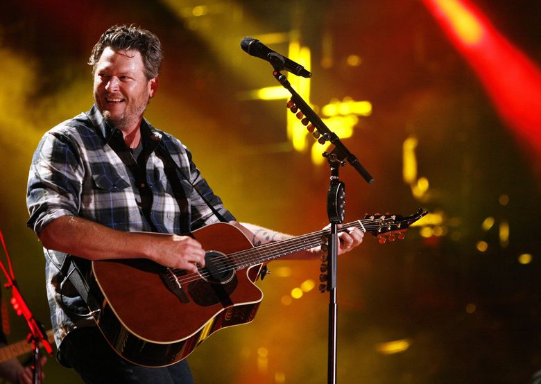 Blake Shelton, seen here at the CMA Fest  at LP Field, in Nashville, will perform Feb. 25, 2017, at the Tacoma Dome. (Wade Payne/Invision/AP)