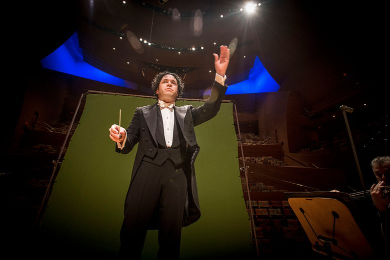 Gustavo Dudamel and the Los Angeles Philharmonic performed in Seattle on Friday, Nov. 4. (VERN EVANS PHOTO)
