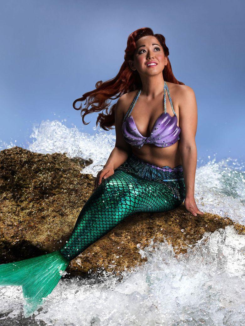 "Performer Diana Huey in ""Little Mermaid"" garb: ""I stereotyped myself in my own head."" (Mark Kitaoka)"
