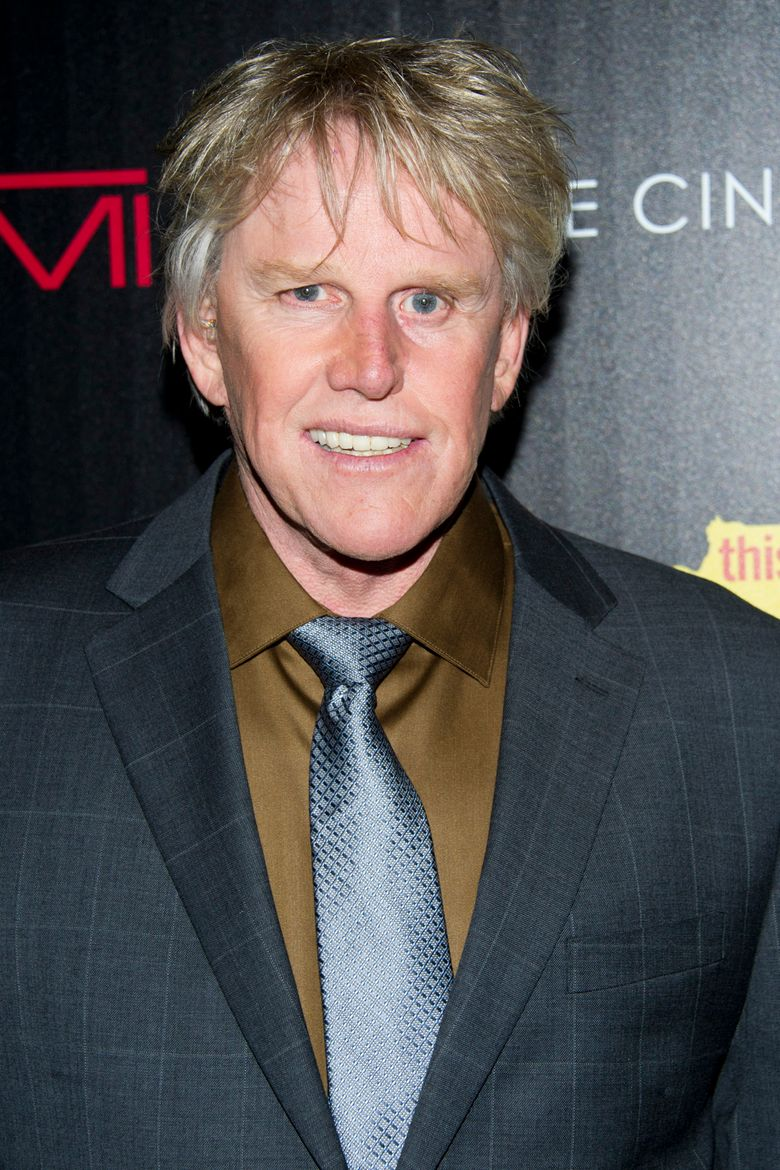 """FILE – In this Oct. 25, 2012 file photo, Gary Busey attends a screening of """"This Must Be the Place"""" in New York. Busey is making his New York stage debut playing a serial killer in """"Perfect Crime"""" from Nov. 21-Dec. 4 at The Theater Center. (Photo by Charles Sykes/Invision/AP, File)"""