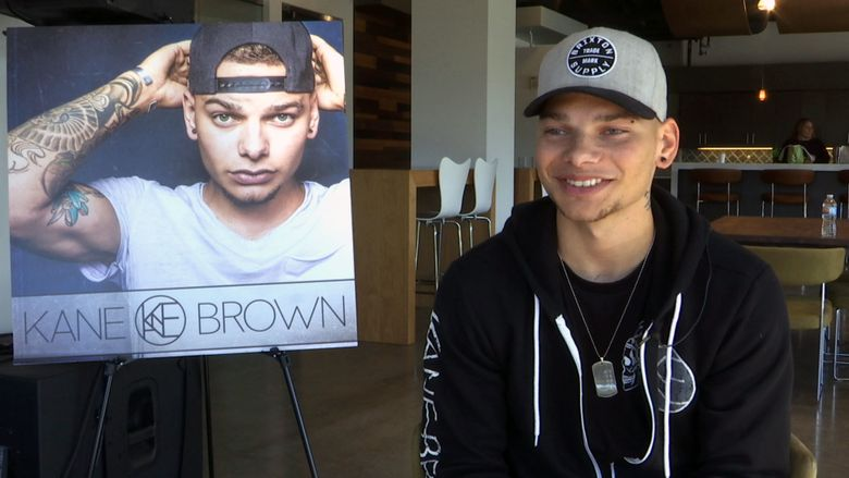 This Nov. 9, 2016 image taken from video shows Kane Brown during an interview in Nashville, Tenn. The 23-year-old singer was rejected by TV singing competitions, so he started posting videos of himself singing country music covers on Facebook. Brown created a dedicated fan base online that propelled him to a No. 1 country album. (AP Photo/Kristin Hall)