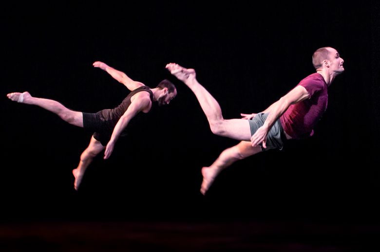 "Cooper Stanton and Terry Crane in Acrobatic Conundrum's ""Love & Gravity."" (Marc Hoffman)"